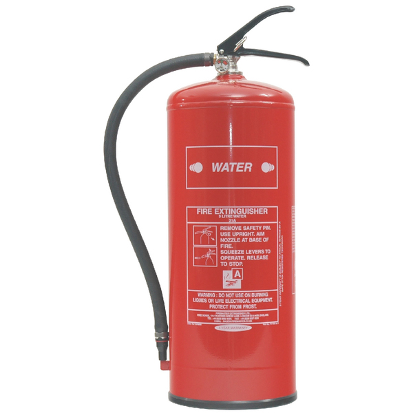 Fire Extinguisher Water 9 Litre (Certified to BS EN3, combats Class A fires) XWS9