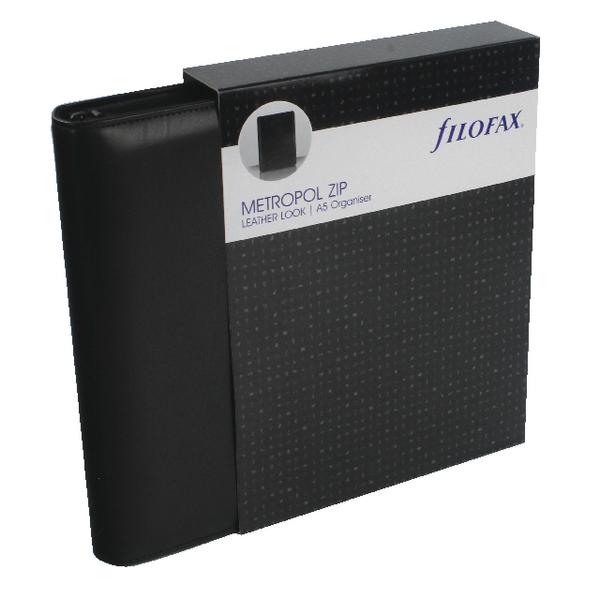 Filofax Metropol Zip-fastening A5 Black Organiser 026979