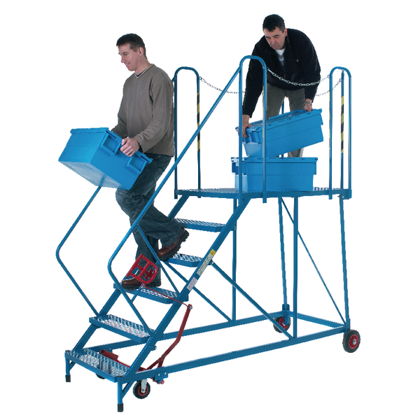 Fort Easy Slope Platform Steps Powder Coated 6 Tread MS9106M