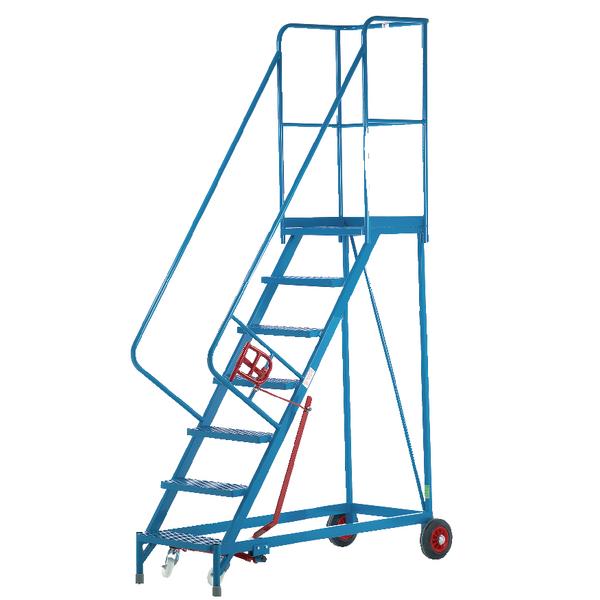 Fort Heavy Duty Mobile Steps 7 Steel Treads MS9807M