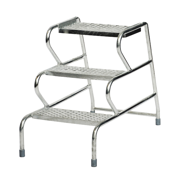 Fort Stable Steps 3 Step No Handrail Galvanised GS3003G