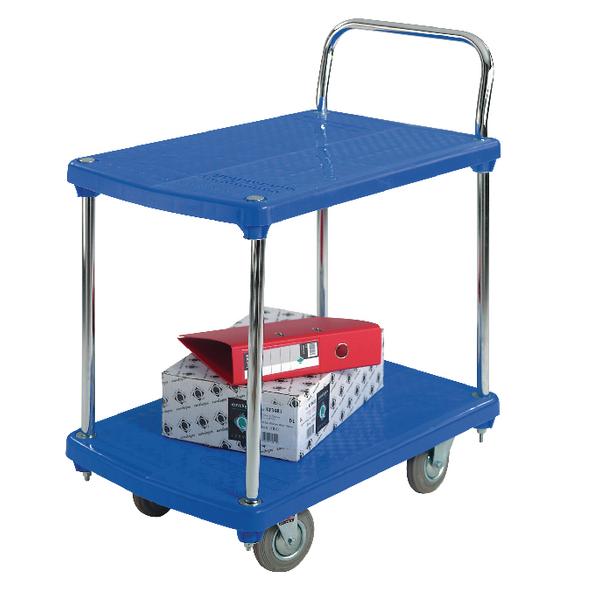 GPC 2 Tier Platform Trolley Plastic GI915Y