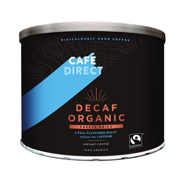 Cafedirect Decaff Organic Freeze Dried Coffee Tin 500g TW141002