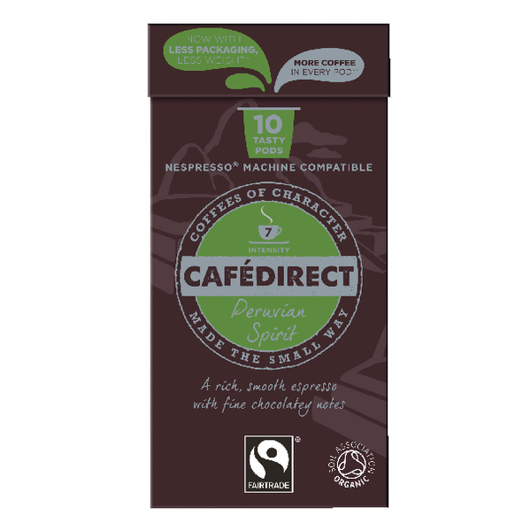 Cafedirect Nespresso Compatible Pods Peruvian Spirit (Pack of 100) FCR0034