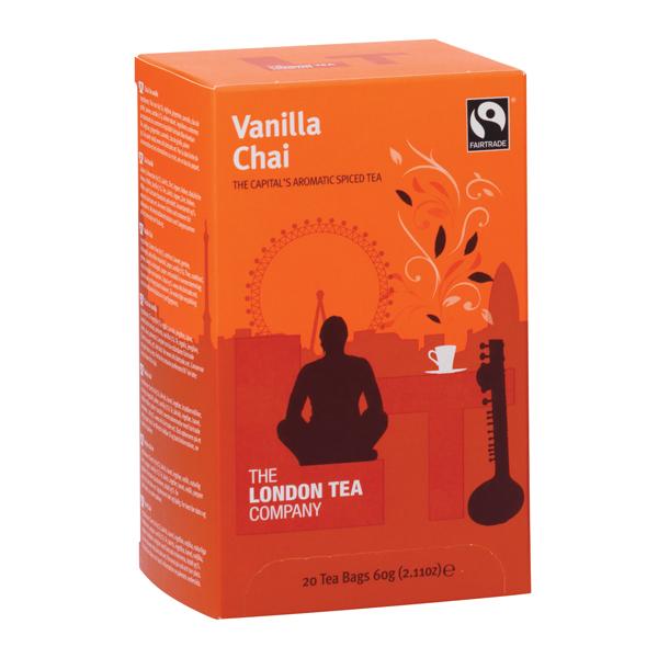 London Tea Vanilla Chai Tea (Pack of 20) FLT19149