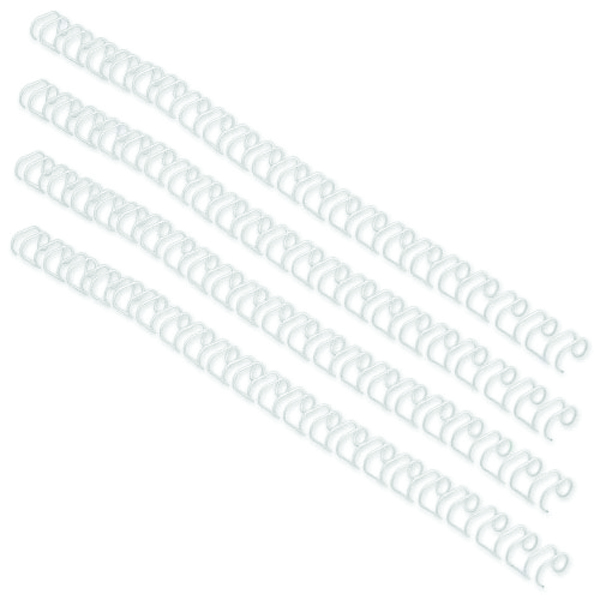 GBC WireBind 3:1 No.5 8mm A4 White Binding Wires (Pack of 100) RG810570