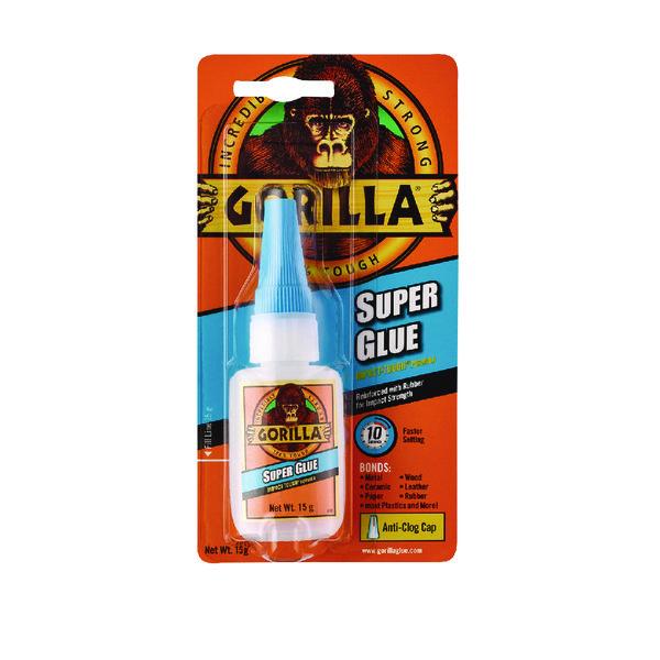 Gorilla Super Glue 15g (Bonds wood, paper, metal, ceramic, rubber and more) 4044201