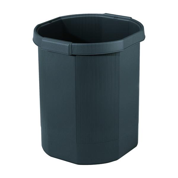Exacompta Forever Waste Bin Black 435014D