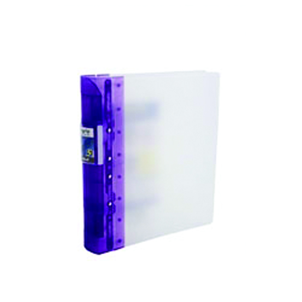Guildhall GLX Ergogrip Ring Binder Frosted A4 Lilac (Pack of 2) 4544