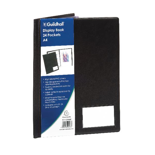 Image for Guildhall A4 Display Book 24 Pocket Black CDB24Z
