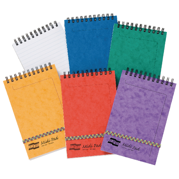 Clairefontaine Europa Midi Notepad 152x102mm Assortment