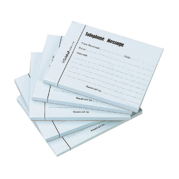 Guildhall Telephone Message Pad 100 Sheet 127x102mm (Pack of 5) 1571