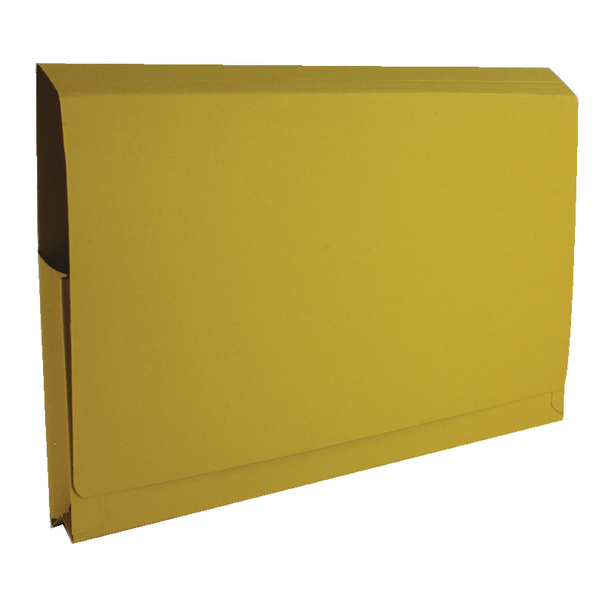 Guildhall Full Flap Pocket Wallet Foolscap Yellow (Pack of 50) PW2-YLW