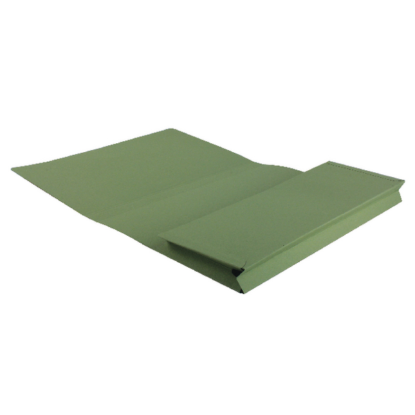 Guildhall Brief Size Pocket Wallet 14x10in Green (Pack of 50) PW3-GRN