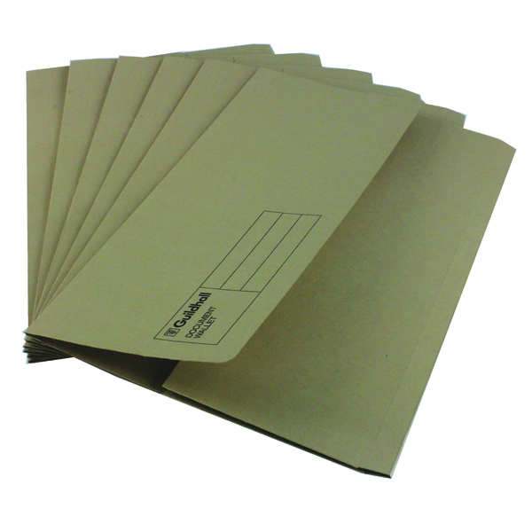Guildhall Document Wallet Foolscap Buff (Pack of 50) GDW1-BUF