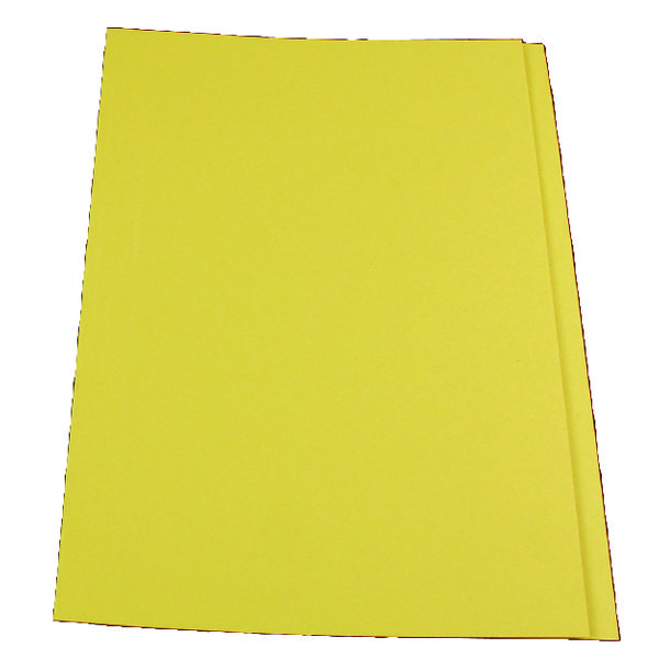 Guildhall Square Cut Folder 315gsm Foolscap Yellow (Pack of 100) FS315-YLWZ