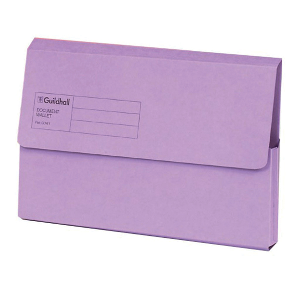 Guildhall Document Wallet Foolscap Violet (Pack of 50) GDW1-VLT
