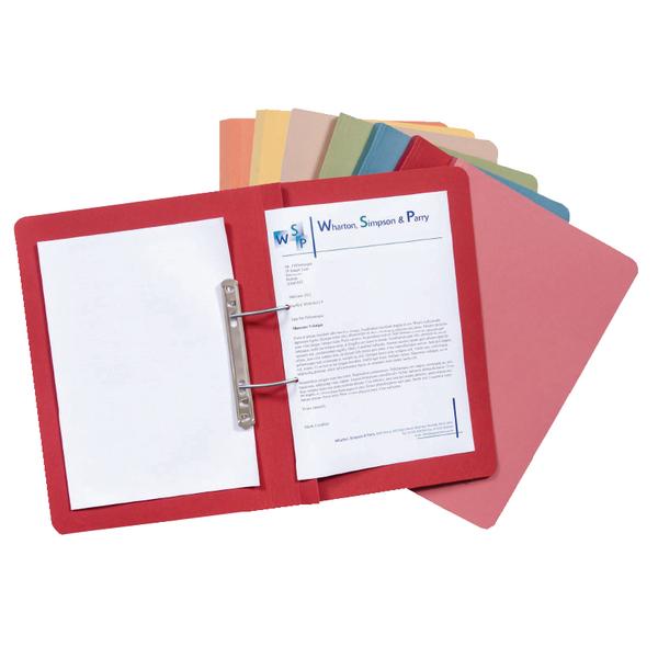 Guildhall Transfer Spiral File 315gsm Foolscap Blue (Pack of 50) 348-BLU