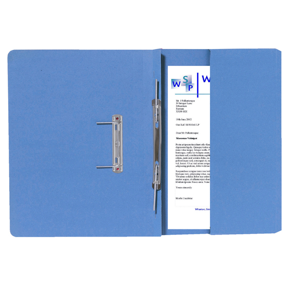 Guildhall Blue Foolscap Right Hand Pocket Spiral File (Pack of 25) 211/9060Z