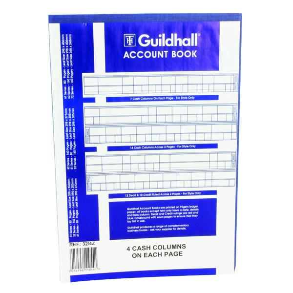 Guildhall 4 Cash Columns Account Book