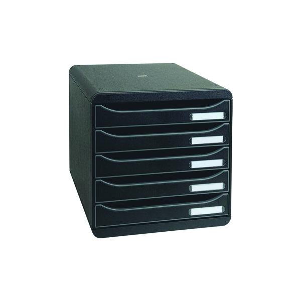 Exacompta Big Box Plus 5 Drawer Black 309714D