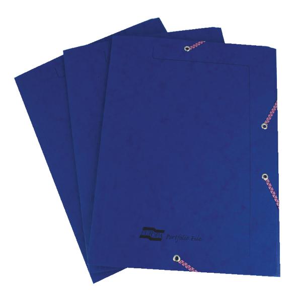 Europa Portfolio File A4 Dark Blue (Pack of 10) 55502SE
