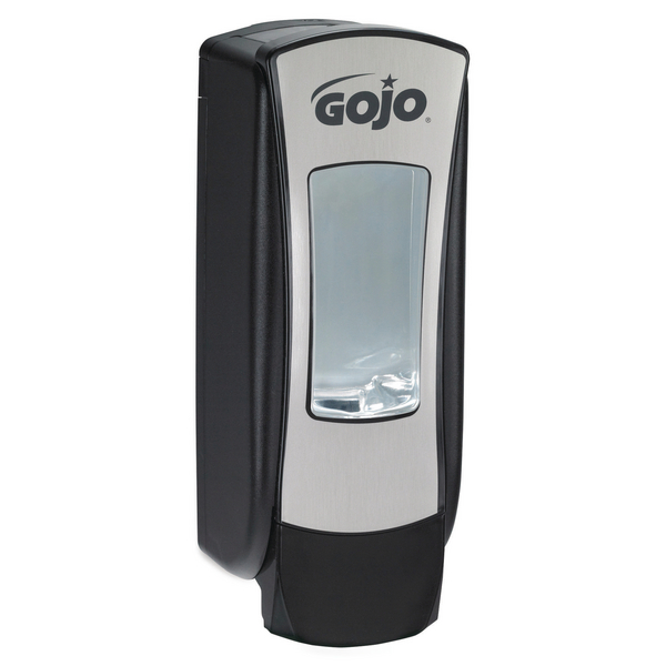 Gojo ADX-12 Manual Hand Wash Dispenser Chrome and Black 8888-06