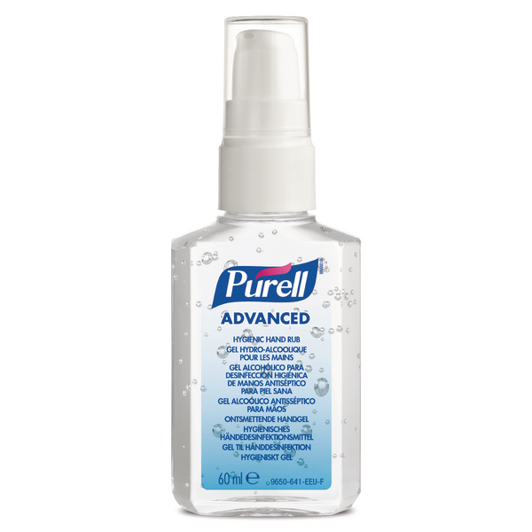 Purell Advanced Hygienic Hand Rub 60ml PERSONAL Issue Spray Pump (Pack of 24) 9606-24-EEU00