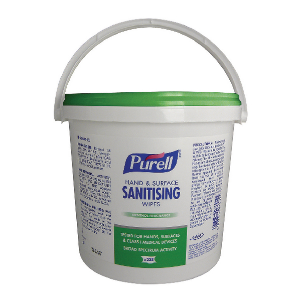 Purell Hand and Surface Sanitising Wipes (Pack of 225) 92206-06-EEU