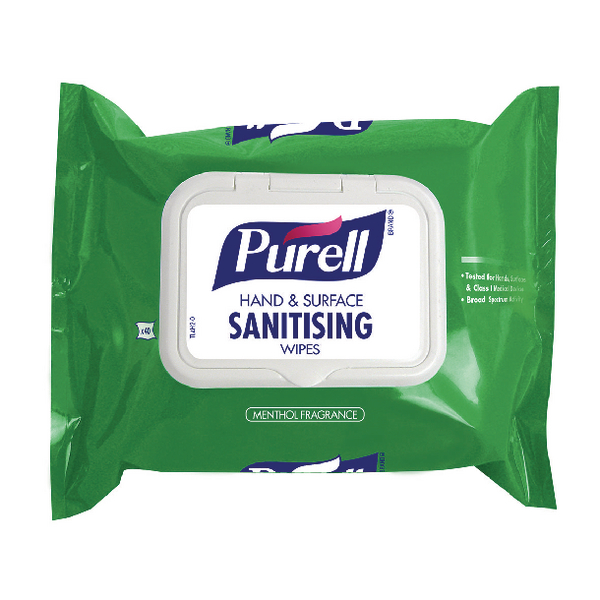 Purell Hand and Surface Wipes (Pack of 40) 92002-40-EEU