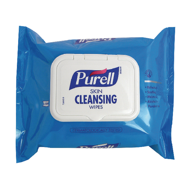 Purell Skin Cleansing Wipes (Pack of 100) 93002-48-EEU