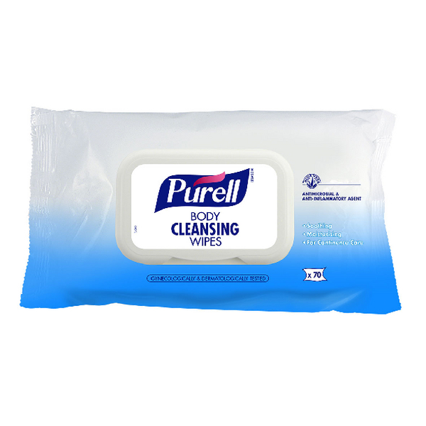 Purell Body Cleansing Wipes (Pack of 70) 94004-12-EEU