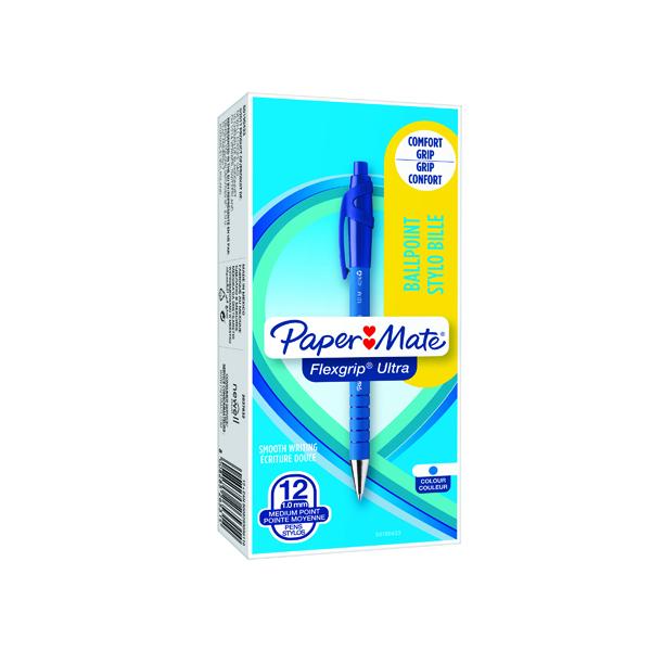 Papermate Flexgrip Retractable Ballpoint Blue PenS0190433