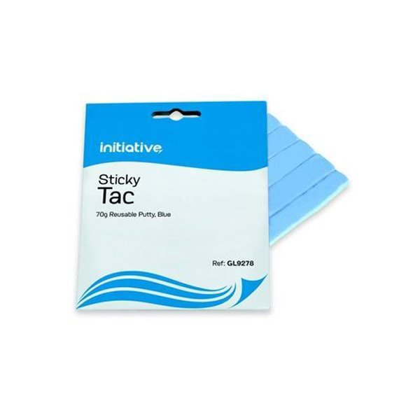 Image for Initiative Reusable Sticky Tac Scored Strips Blue 70gm
