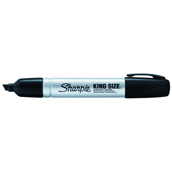 Sharpie Pro King Size Permanent Black Chisel Tip Marker (Pack of 12) S0949820