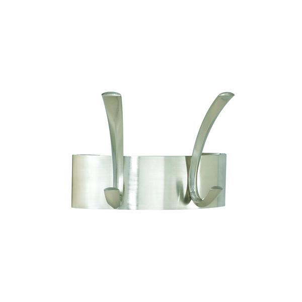 Image for Safco Curve 2-Hook Coat Rack Silver 4203Sl
