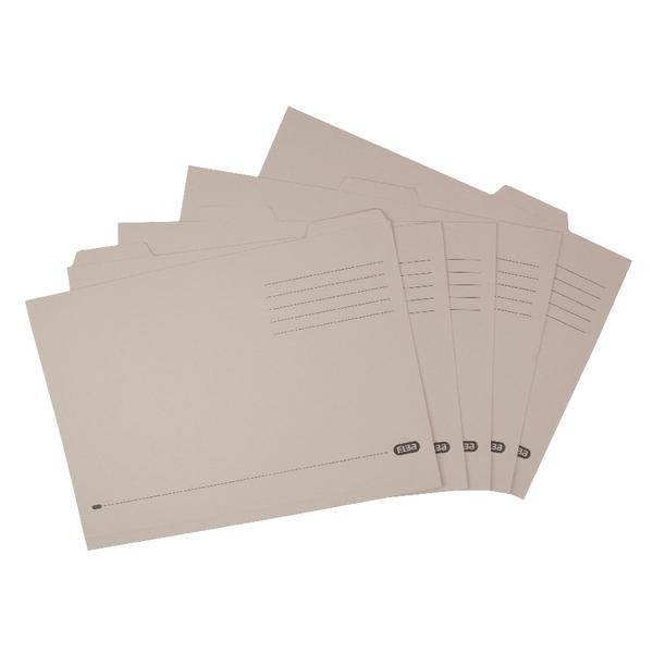Elba Foolscap Buff Economy Tabbed Folder (Pack of 100) 100090124