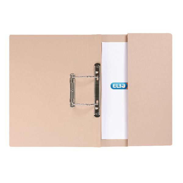 Elba Strongline Foolscap Buff Spring Pocket File (Pack of 25) 100090145