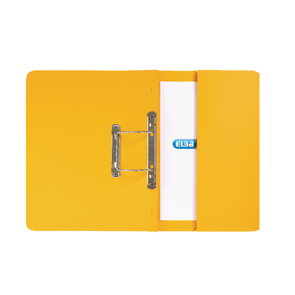 Elba Strongline Foolscap Yellow Spring Pocket File (Pack of 25) 100090150