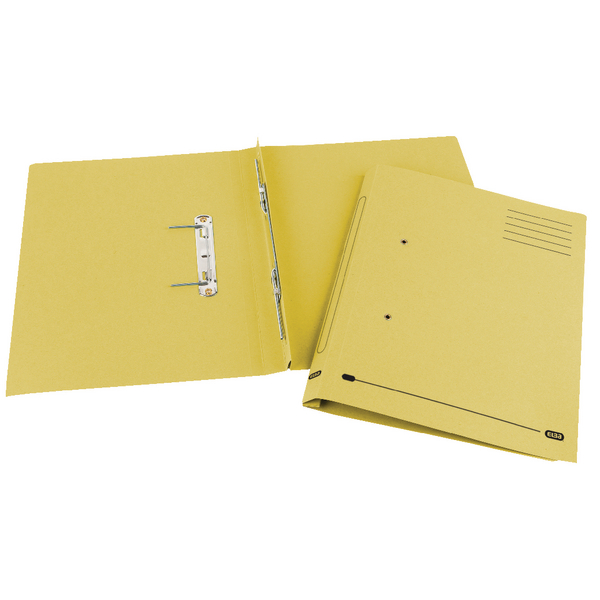 Elba Spirosort Foolscap Yellow Spring Files (Pack of 25) 100090163