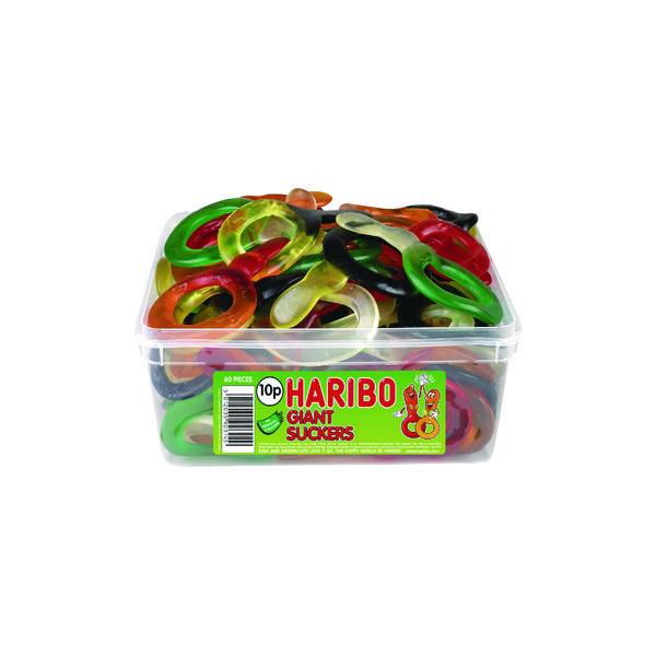 Haribo Giant Dummies (60 Sweet) Tub 135440