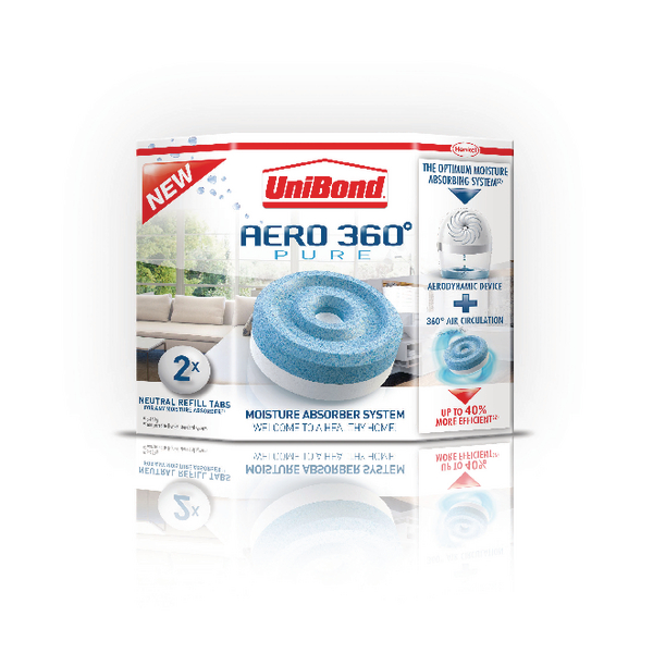 Image for Unibond Aero 360 Moisture Absorber Large Refill (Pack of 2) 1554715