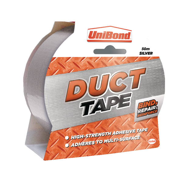 Unibond Duct Tape Silver 50mmx50m 1405197
