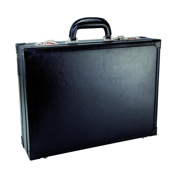 Image for Monolith Black Expandable Leather Attache Case (Single) 2253