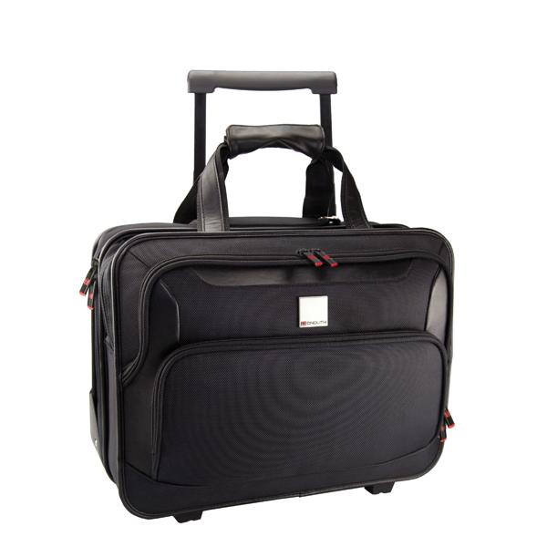 Monolith Deluxe Black Nylon Wheeled Laptop Case 2372