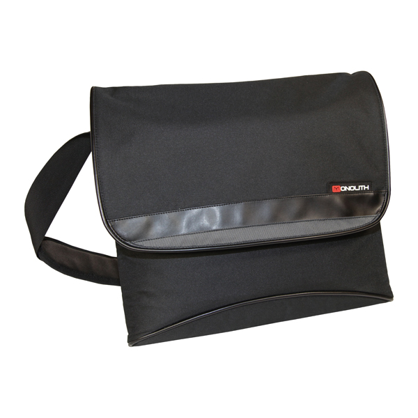 Image for Monolith Nylon Messenger Bag Black 2386