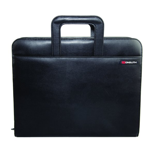 Image for Monolith Drop Handle Executive Leather Look Case Koskin Black 2791