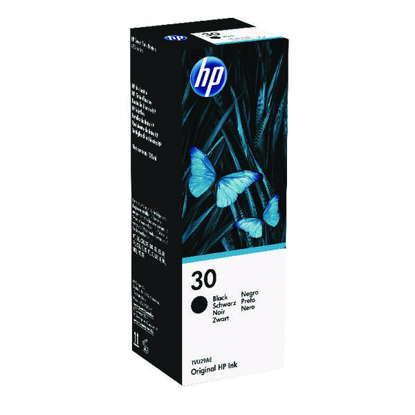 HP 30 135ml Black Ink Bottle 1VU29AE