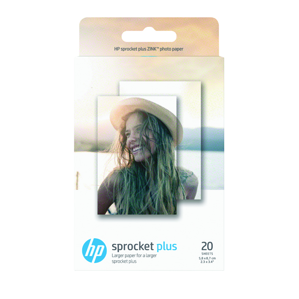 HP Sprocket Plus Photo Paper 5.8 x 8.7cm Pack of 20 2LY72A