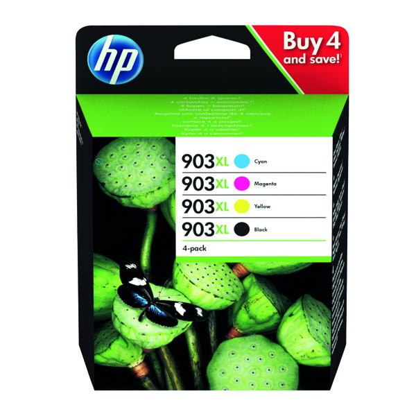 HP 903XL HY Original Ink Cartridges CMYK (Pack of 4) 3HZ51AE